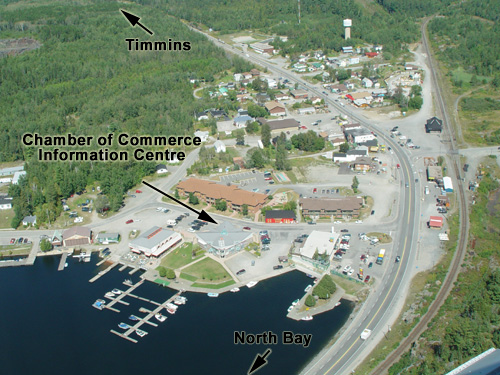 Location of the Temagami Information Centre